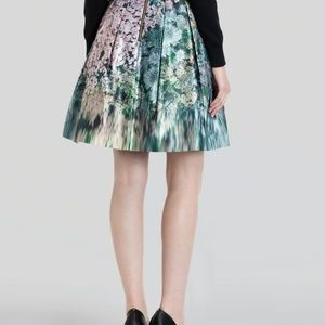 Ted Baker Skirts - Ted Baker Green Skirt - Ovald Glitch Floral 0